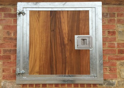 Top Door Galvanised in Hardwood