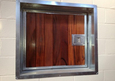 Exterior Top Door in Hardwood with Galvanised Internal Flashings