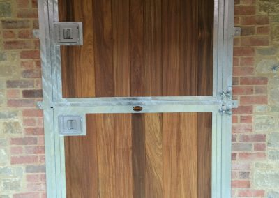 Deluxe Exterior Top and Bottom Door in Hardwood