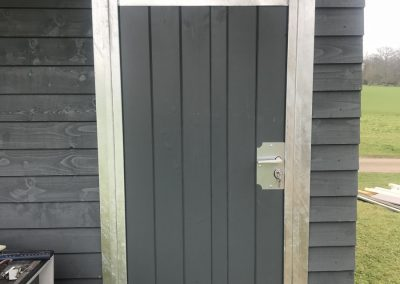 Dual Railed Tack Room Door, in Softwood Stained Grey